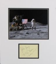 John Young Autograph Signed Display - Apollo 16